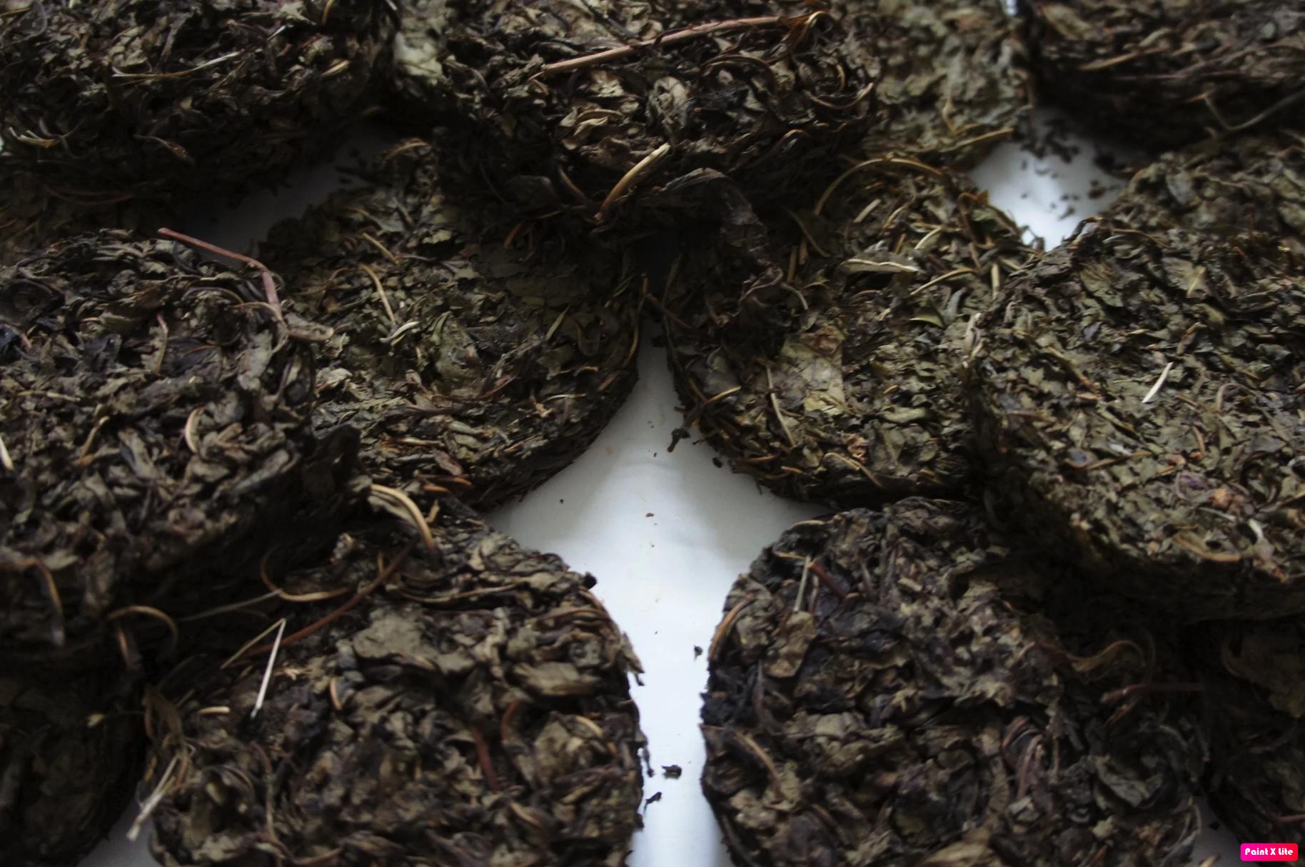 пресоованные лепешки иван-чая